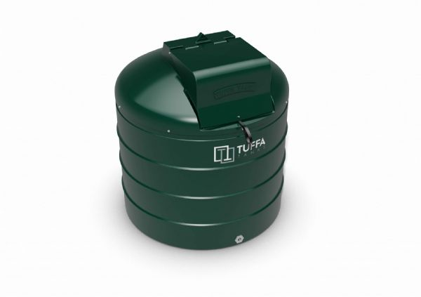 1400  Litre Circular Plastic Bunded Oil Tank - Fire Protected